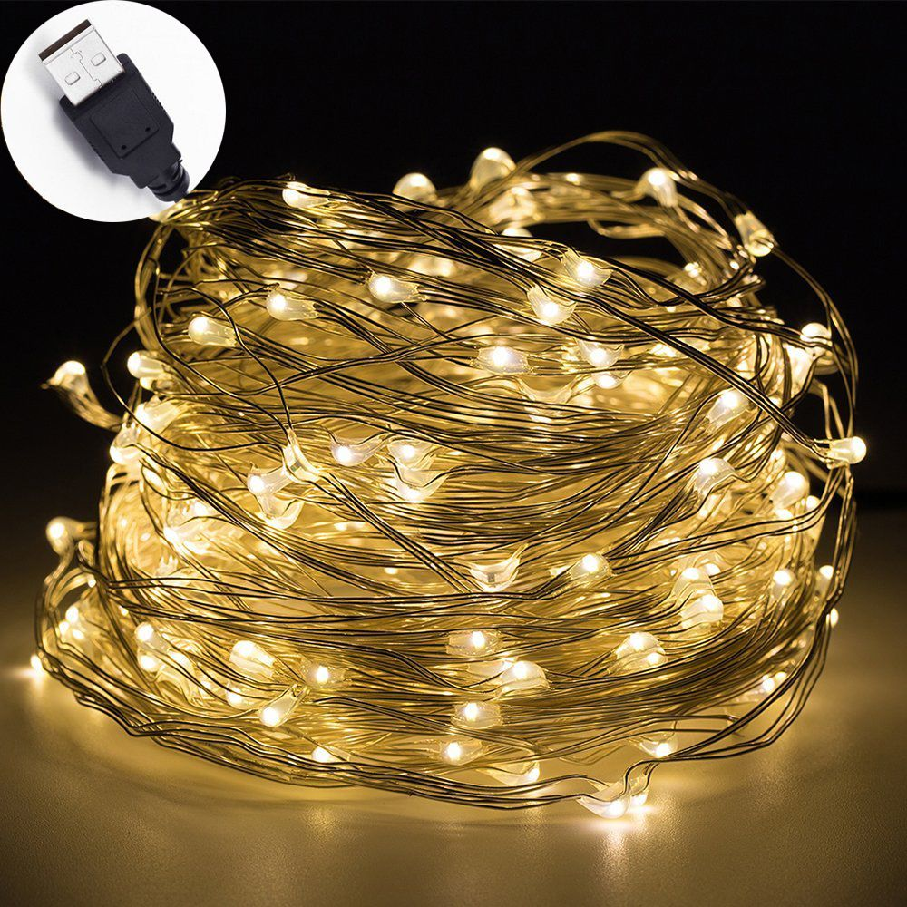 Cheap String Lights Impressive Led Lichtslingers 10 M 33Ft 100Led 5 V Usb Powered Outdoor Warm Wit Inspiration