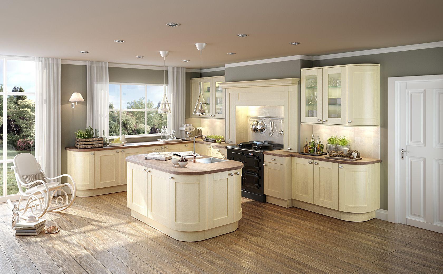 Kueche Vanille Nussbaum Kitchen design centre, Classical