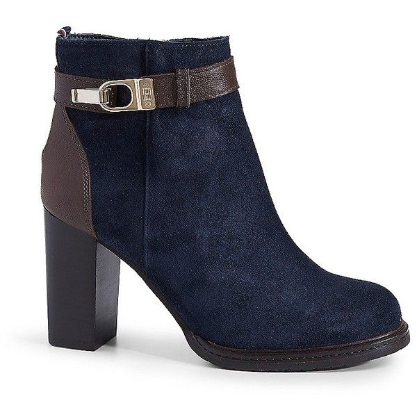 cb6ff7e1e Tommy Hilfiger Suede Colorblock Boot ( 180) ❤ liked on Polyvore featuring  shoes