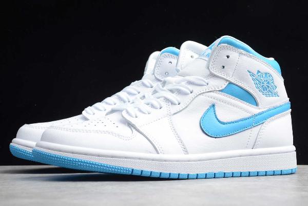 2020 Air Jordan 1 Mid Unc White Light Blue Men S And Women S Size Bq6472 114 Blue Jordans Blue And White Jordans Air Jordans
