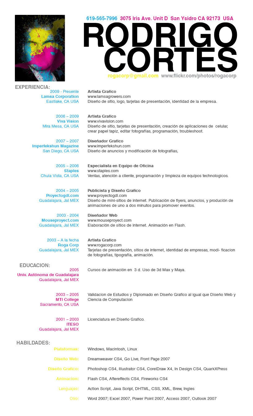 resume espanol by rogaziano cool resumes pinterest