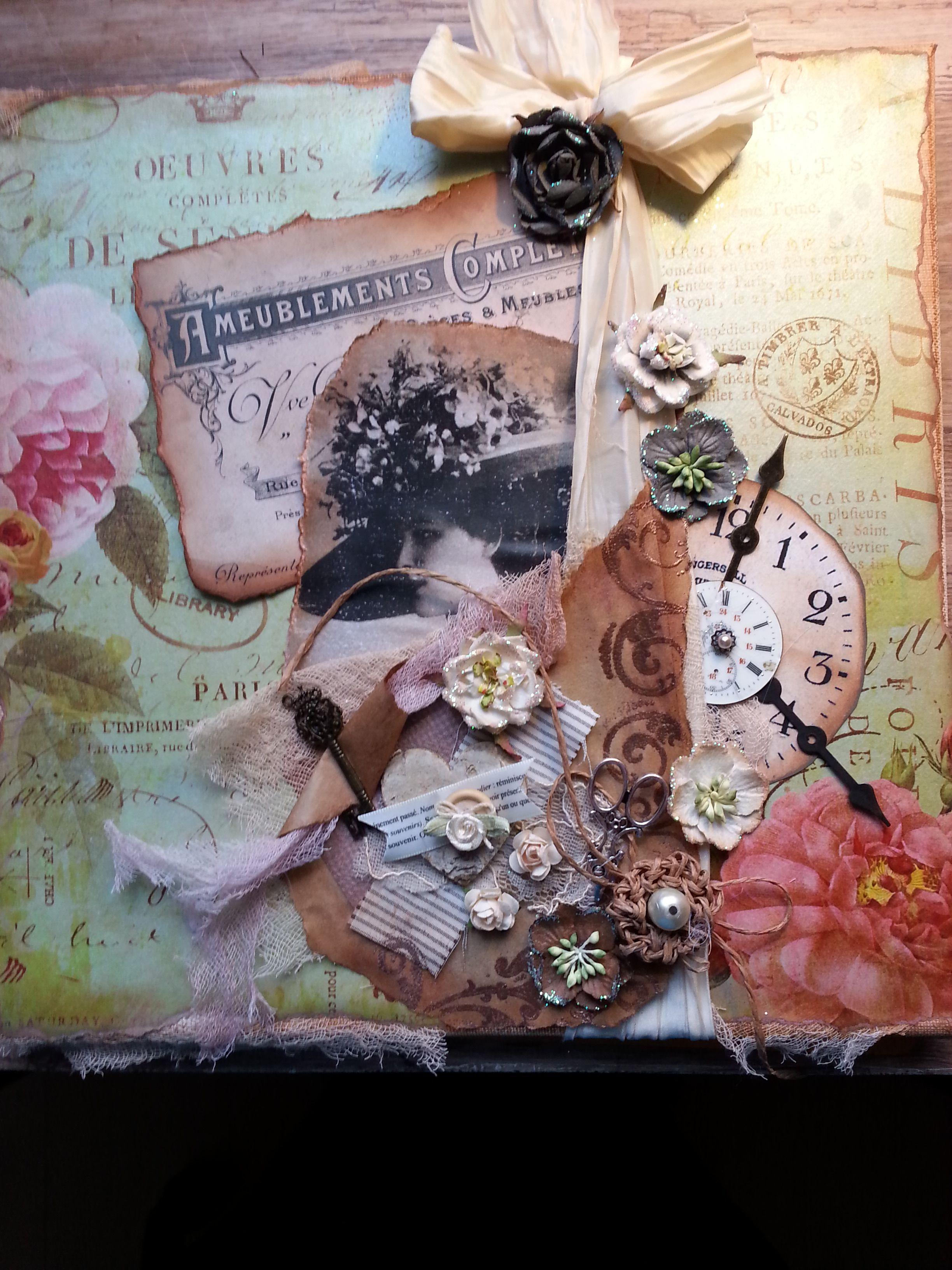 DIY ...Keilrahmen..wunderschönes Papier...bisschen Dekoration und viel Phantasie...fertig...