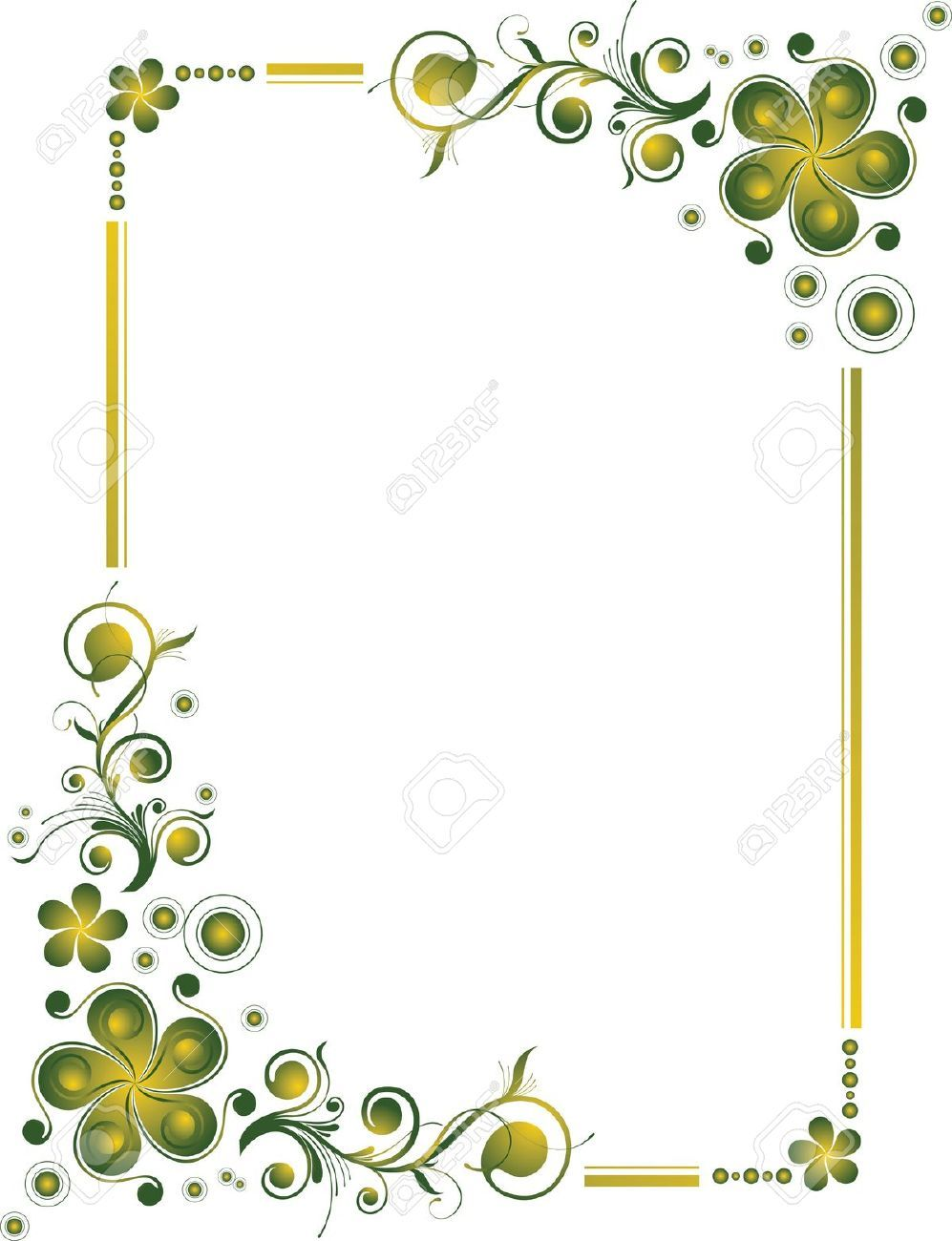 Simple flower designs border
