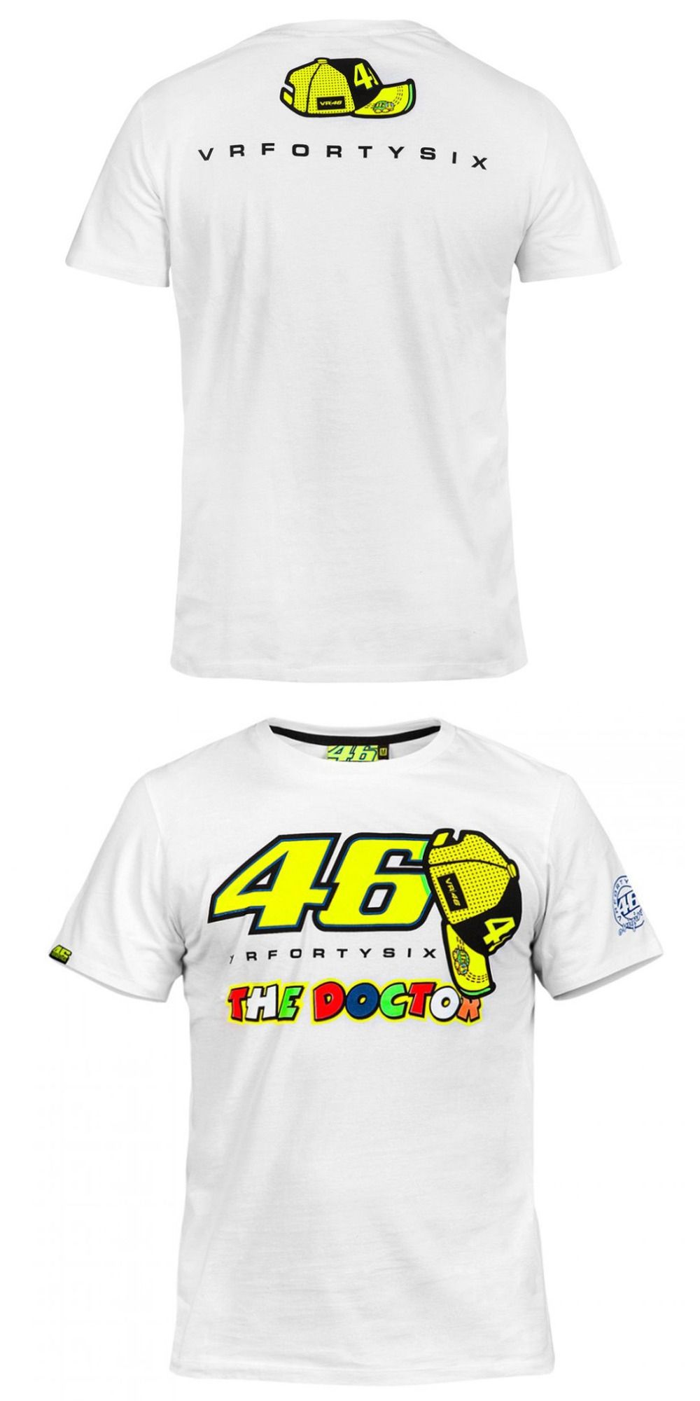 9b619e8e Valentino Rossi VR46 46 The Doctor Moto GP Monza Cotton T-shirt White