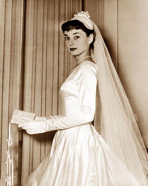 Pin By A Practical Wedding On Vintage Weddings Audrey Hepburn Wedding Audrey Hepburn Photos Celebrity Wedding Photos