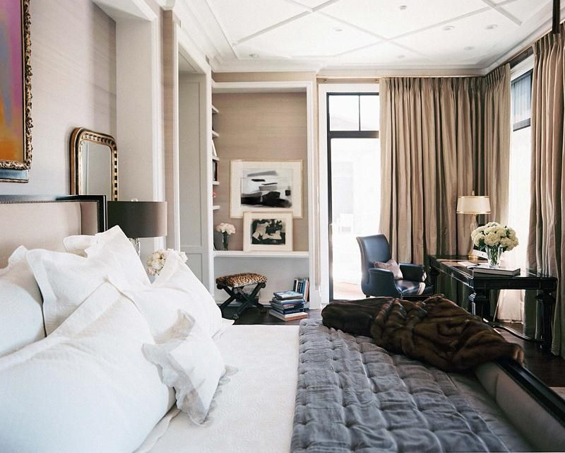 office in master bedroom. Relaxing Transitional Bedroom By Jamie Herzlinger On HomePortfolio Office In Master F