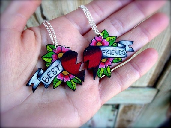 Girly Best Friend Tattoos: Best Friends Tattoo Style Necklace (With Images)