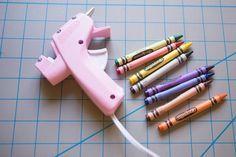 Use crayons and a hot glue gun to create a wax seal.