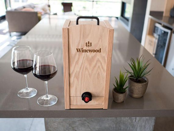 The 3l Winewood Case Wooden Case For Boxed Wine Fits 3