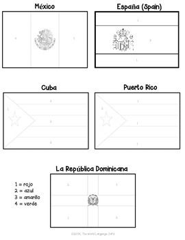 Spanish Speaking Color By Number Country Flags How To Speak