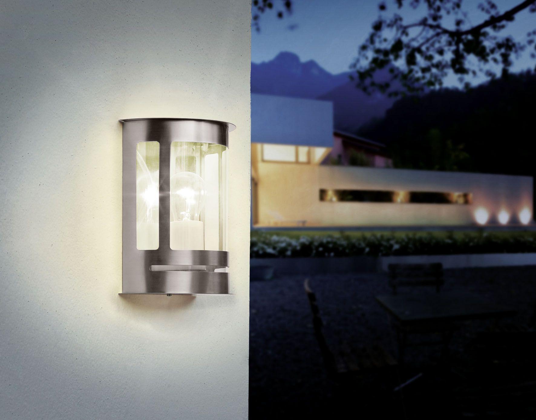 Plafoniera Eglo Led : Eglo outdoor lighting wall light daril stainless steel jd