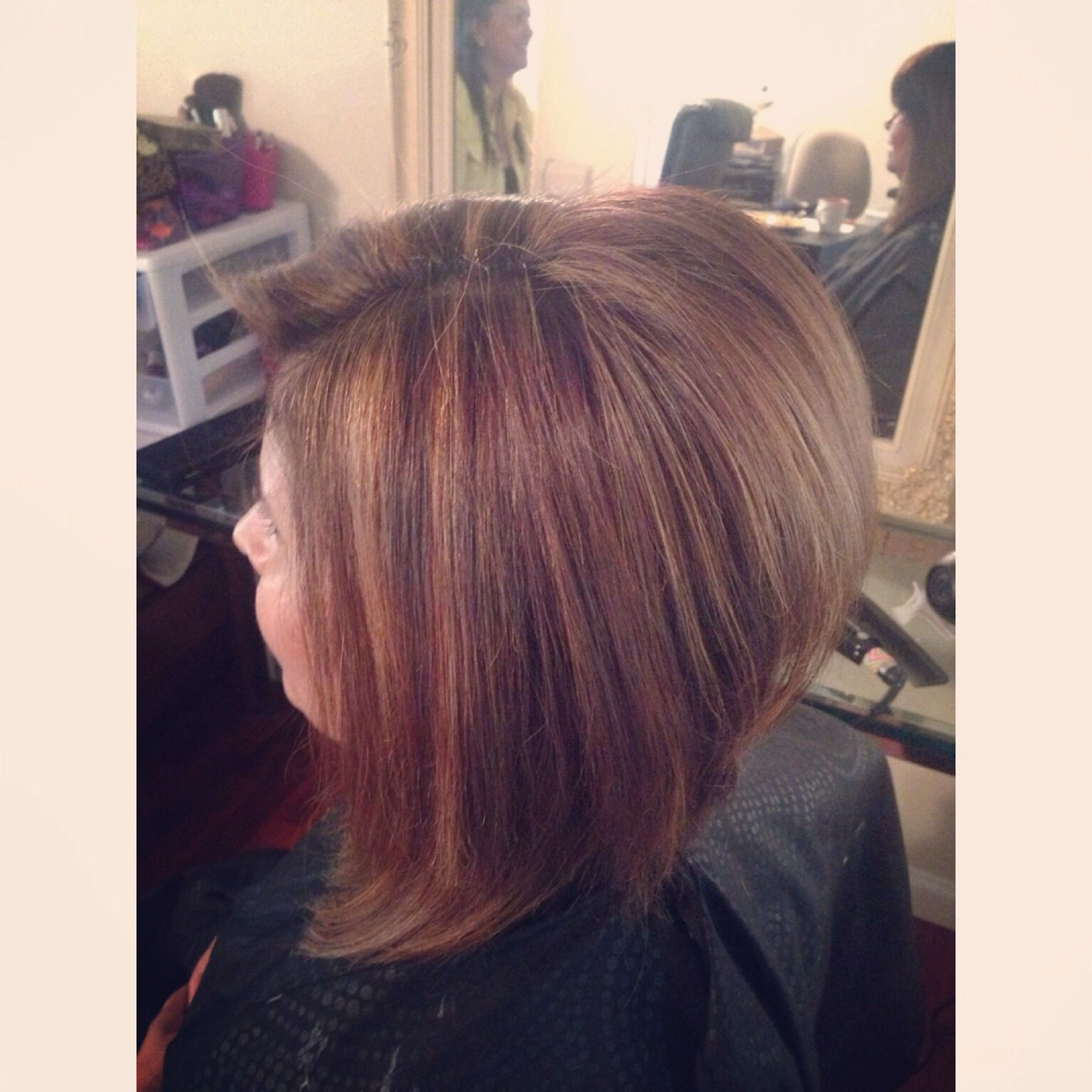 Highlights and graduated cut #Hairbygigiii
