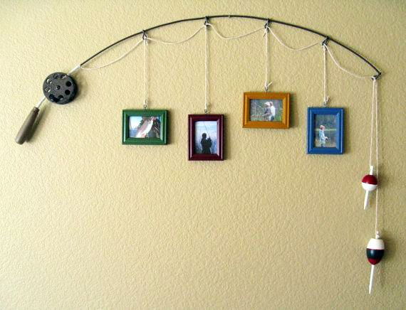 DIY Fishing Pole Picture Frame - instructions | Photo ideas ...