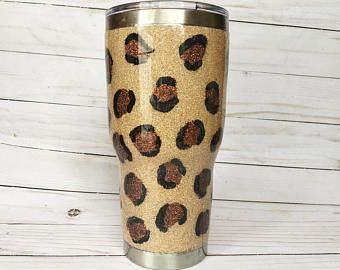 6e1550cc14a Glitter Yeti |Glitter Yeti Cup | Glitter Dipped Yeti | Glitter RTIC |  Leopard Yeti | Glitter Tumbler | Glitter Yeti Cup | Cheetah Yeti