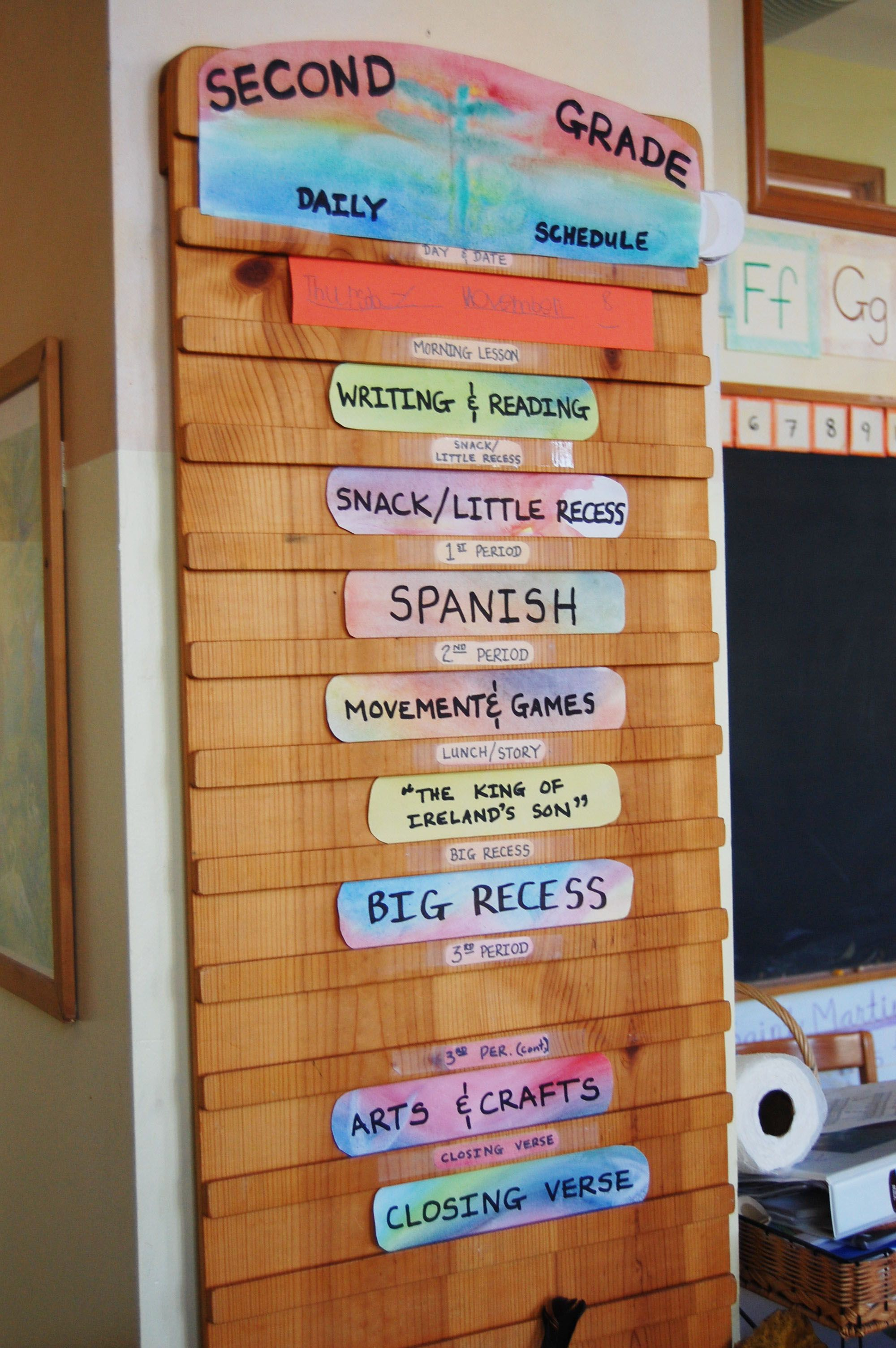 Second Grade Daily Schedule From City Of Lakes Waldorf School
