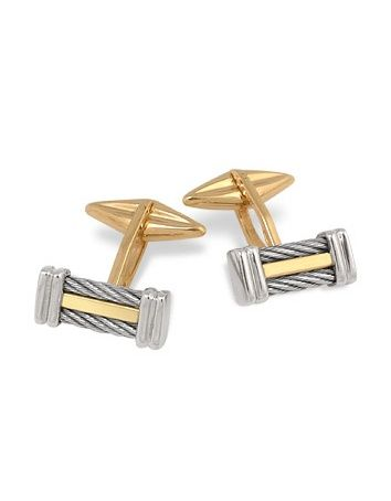 e627a5a7765 Forzieri Di Fulco Line Gold and Stainless Steel Cufflinks | Fashion ...