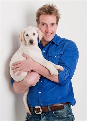 Ben Fogle with Puppy Sponsorship puppy Sunny http://www.hearingdogs.org.uk/donate/puppysponsorship