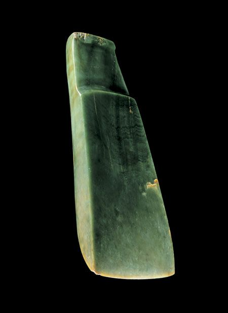 This toki pounamu (adze) is believed to be at least five centuries old, and it would have been owned by an important chief.