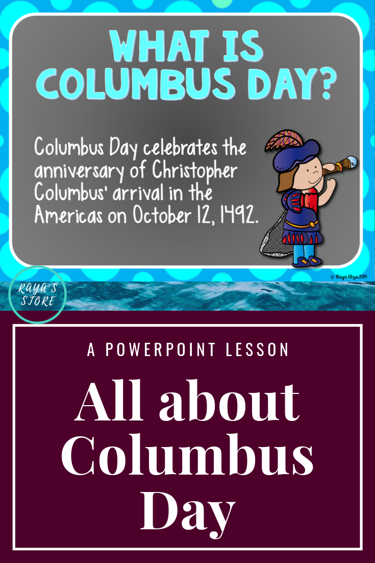 Columbus Day Powerpoint Editable All About Columbus Day Facts With Quiz Visual Learning Tools Powerpoint Lesson Visual Learning