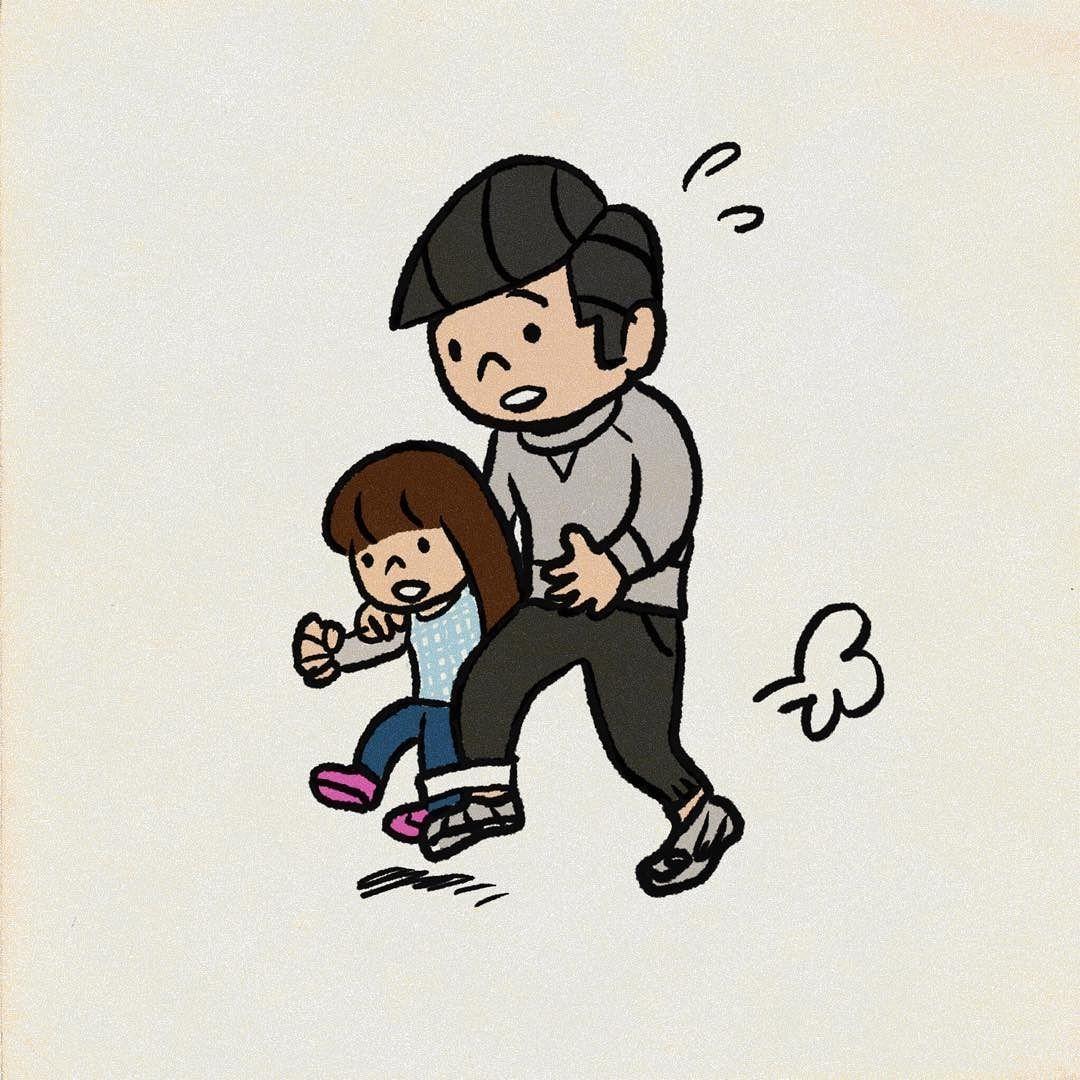 昨日の運動会親子競技の二人三脚で娘はほとんど宙に浮いてたらしい 運動会 二人三脚 イラスト vault boy illustration character