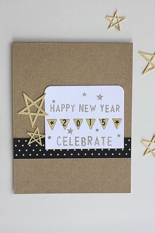 happy new year card by heather nichols for papertrey ink november 2014