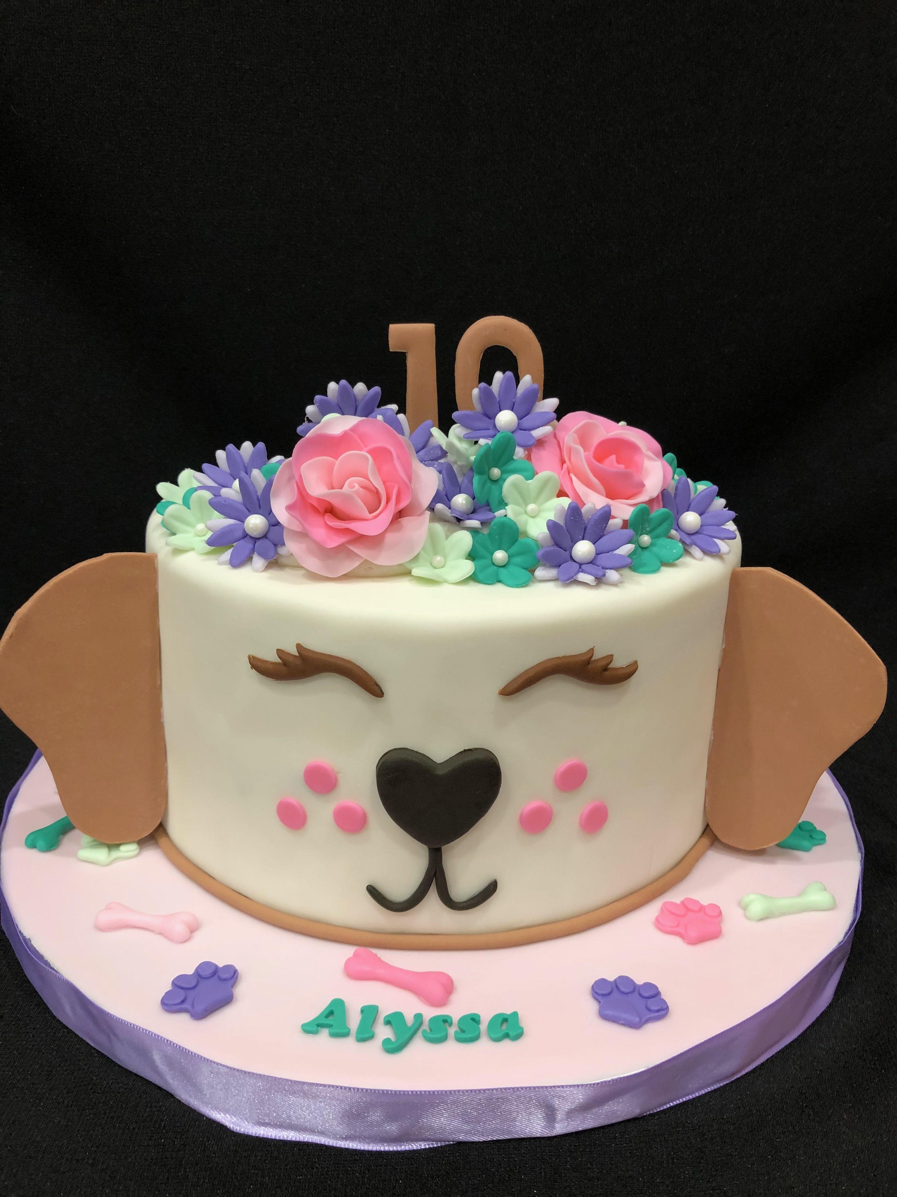 Cute puppy cake girl birthday cake maddieus nd pinterest