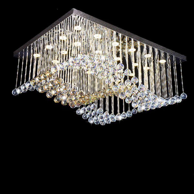 New Modern Design K9 Crystal Lighting Remote Control Ceiling