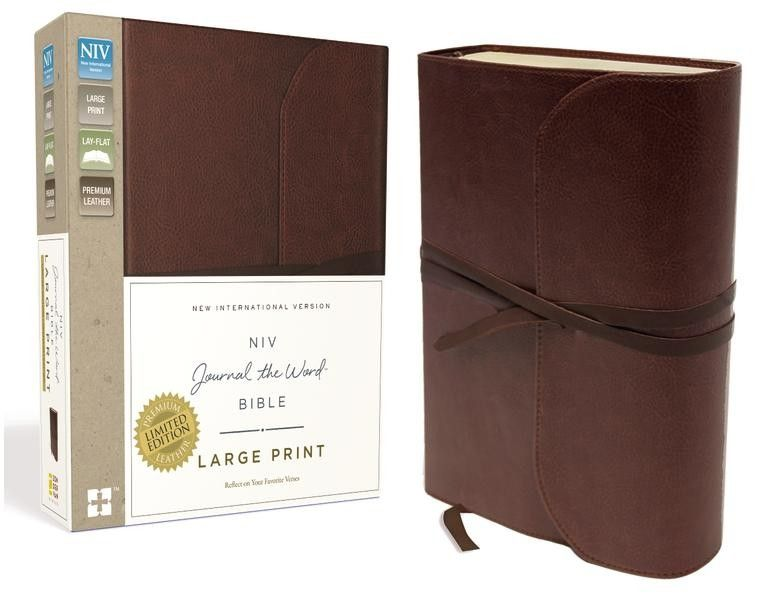 With A Luxurious Premium Leather Cover The NIV Journal WordTM Bible Large Print Is Designed To Last Featuring Thick Creamed Colored Paper And Lightly