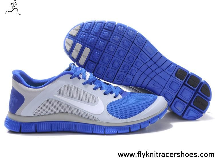 93c92d3825fb Cheap 579958-014 Nike Free 4.0 V3 Wolf Grey White Hyper Blue Mens For Sale