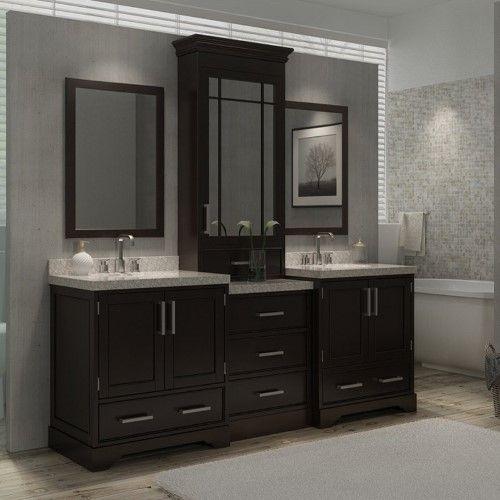 Ariel Stafford M085d Esp 85 In Double Bathroom Vanity Set Jet Com Double Vanity Bathroom Luxury Bathroom Vanities Bathroom Vanity