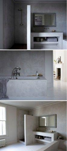 Salles de bain en tadelakt | Bathroom Inspiration | Salle de bain ...