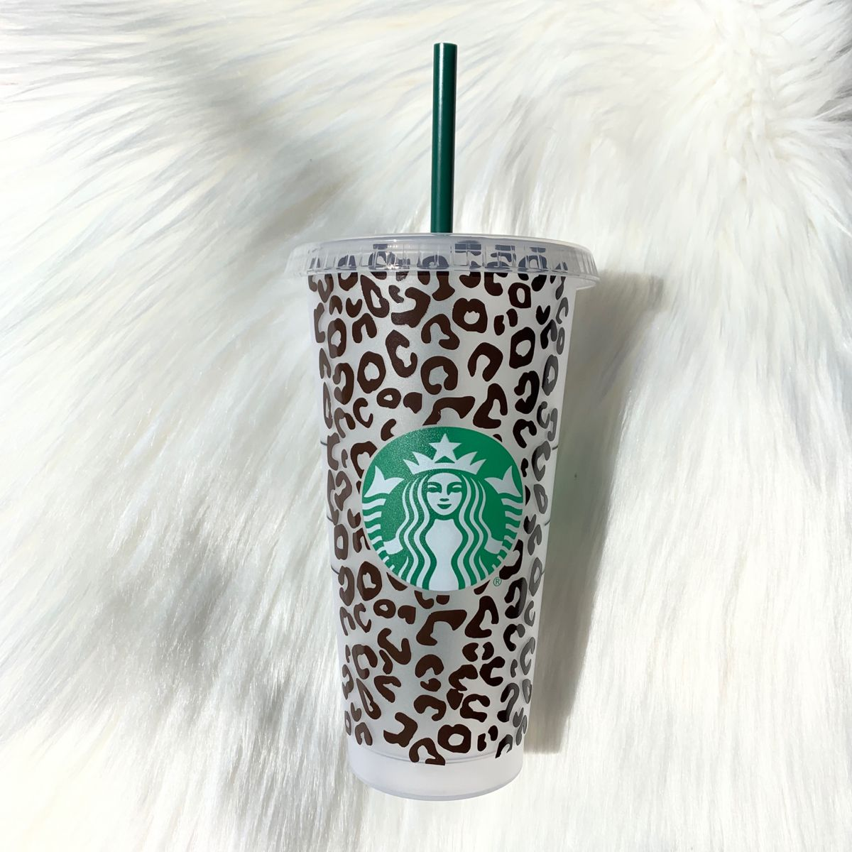 LEOPARD Print Full Wrap Starbucks 16oz Tumbler by