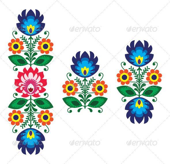 Polish Floral Folk Embroidery Pattern | DIY | Pinterest | Malerei ...