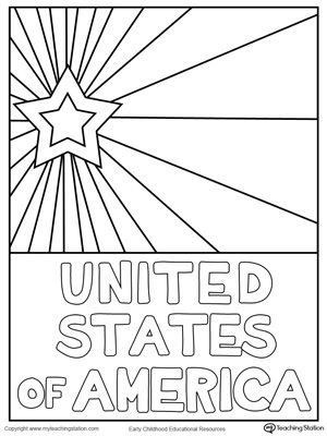 FREE USA Starburst Coloring Page Worksheet Help Your Child Celebrate American