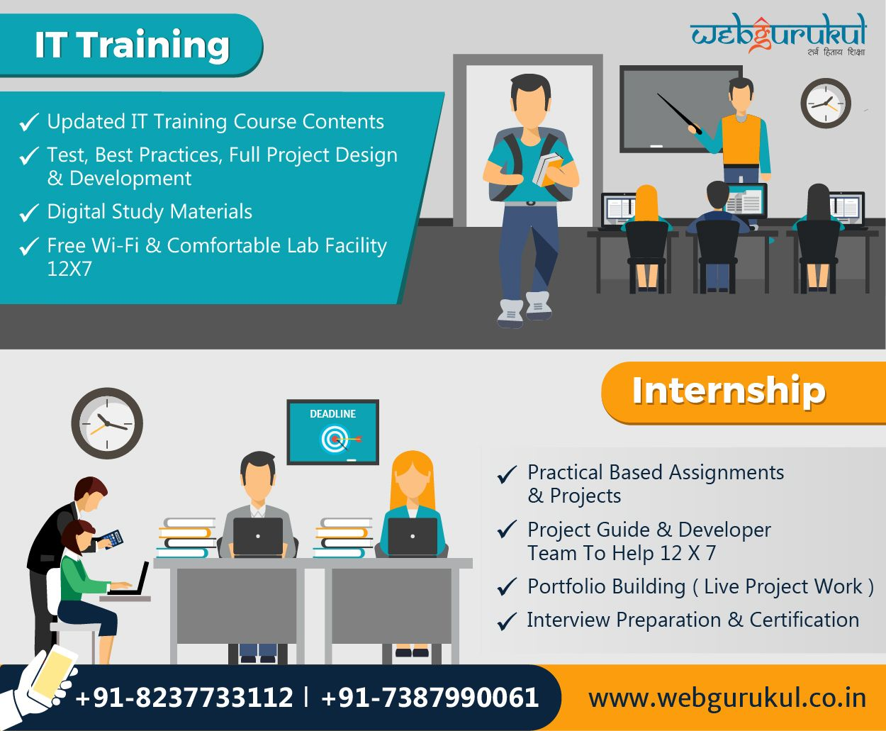 The Expert Was Once A Beginner Start Your Career In It Industry Webgurukul Provides It Training Intern Web Development Design Internship Program Train