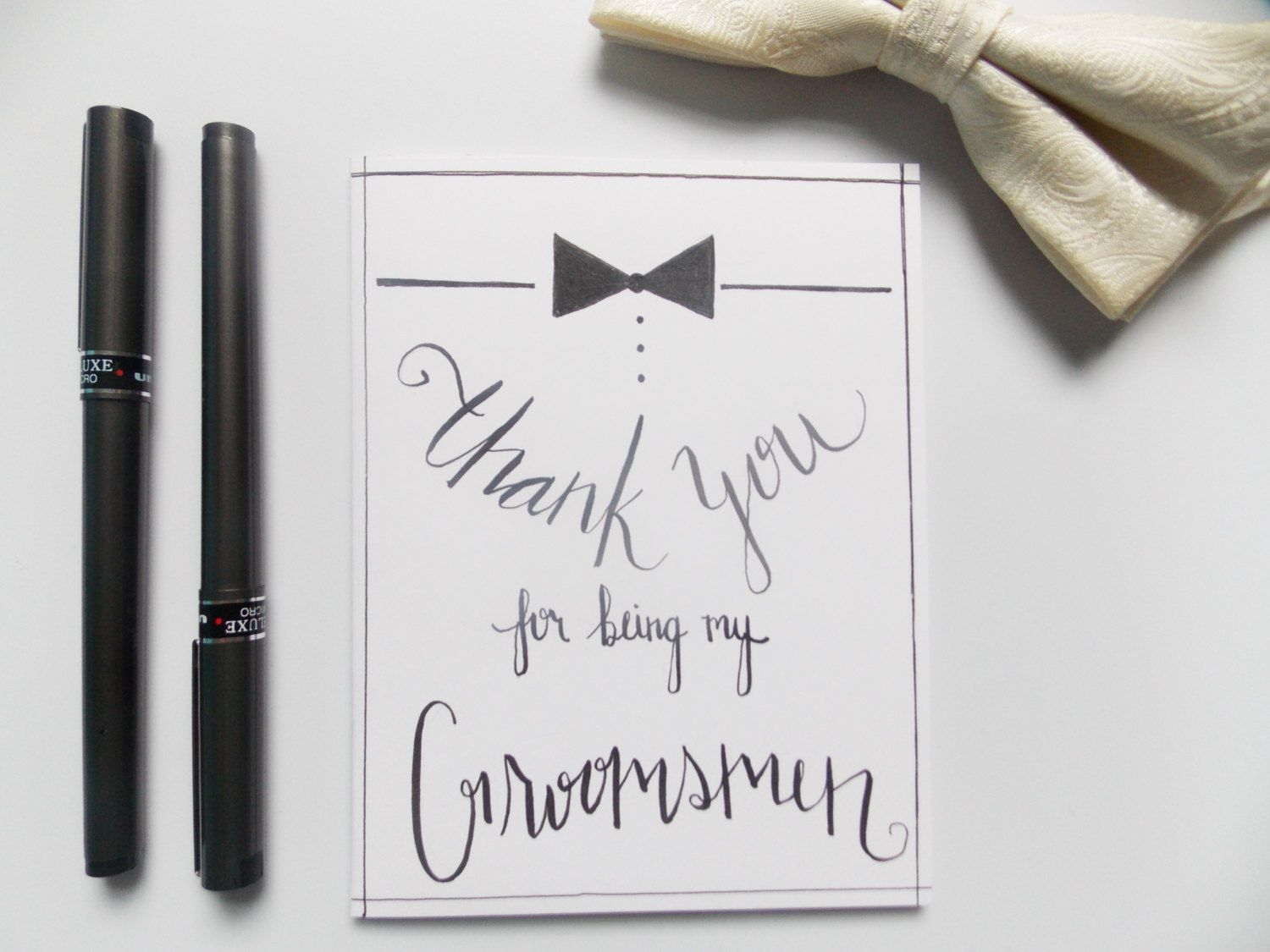 Image result for free groomsmen thank you card template