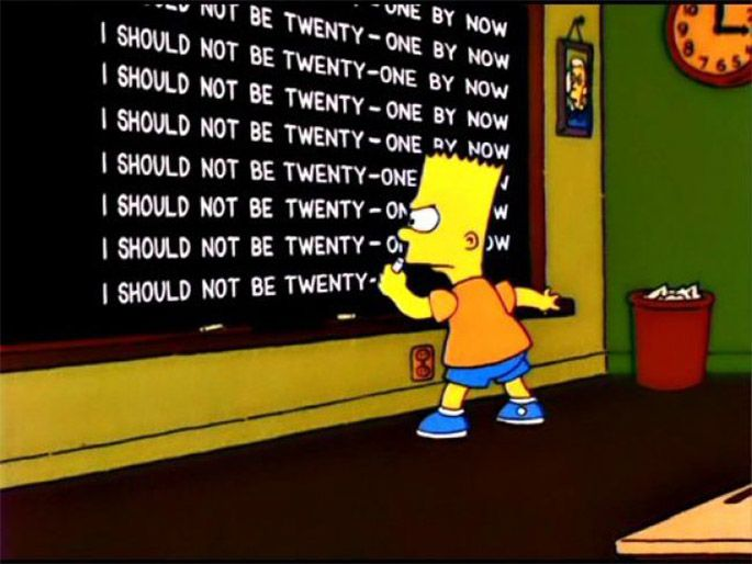 12 of the Best Lines from Bart's Chalkboard | The simpsons ...