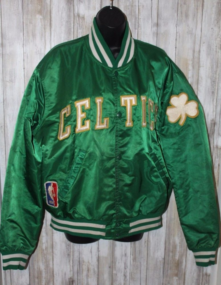 84fba409c Vintage Satin Boston Celtics Jacket XL Starter Jacket Gold Lettering ...