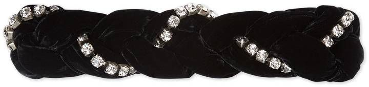 edde294c059 Gucci Braided velvet headband with crystals