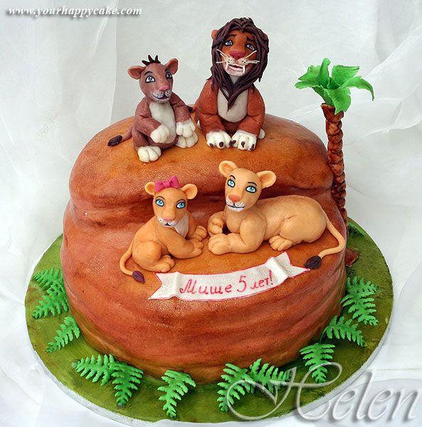 Animal Kingdom Inspired Lion King Cake Disney Cakes Pinterest