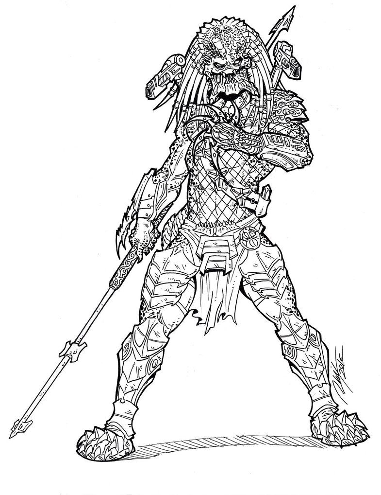 predator coloring pages # 8