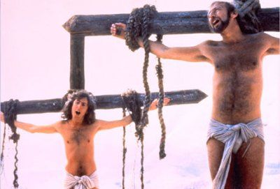 """Life of Brian (1979)    Don't ever forget this: """"Always look on the bright side of life"""""""