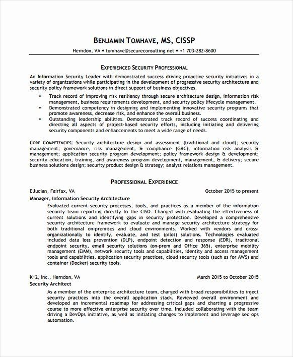 20 Information Security Analyst Resume In 2020 Security Resume Job Resume Samples Sample Resume