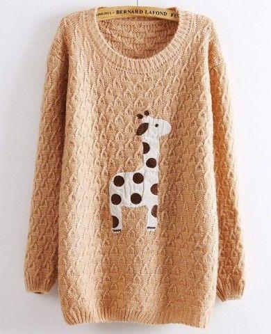 db3d87187 giraffe pullover