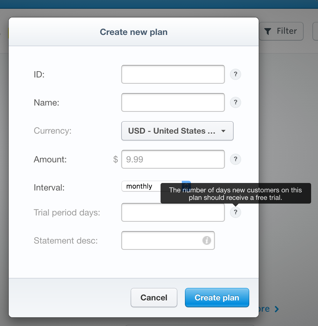 Help Icon And The Popover Content In Stripe Forms Design