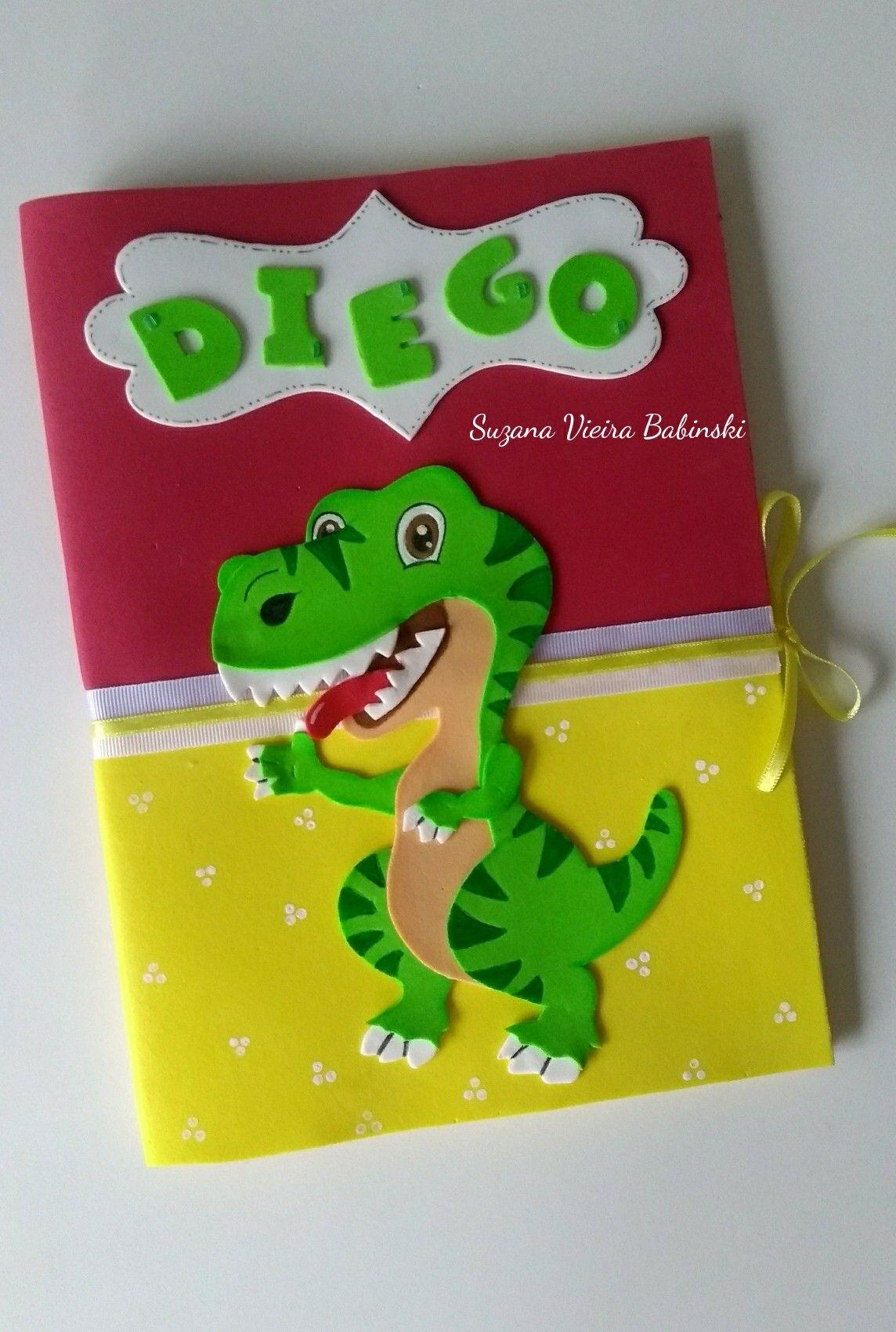 Capa eva dinossauro manualidades cuadernos decorados for Puertas decoradas con dinosaurios