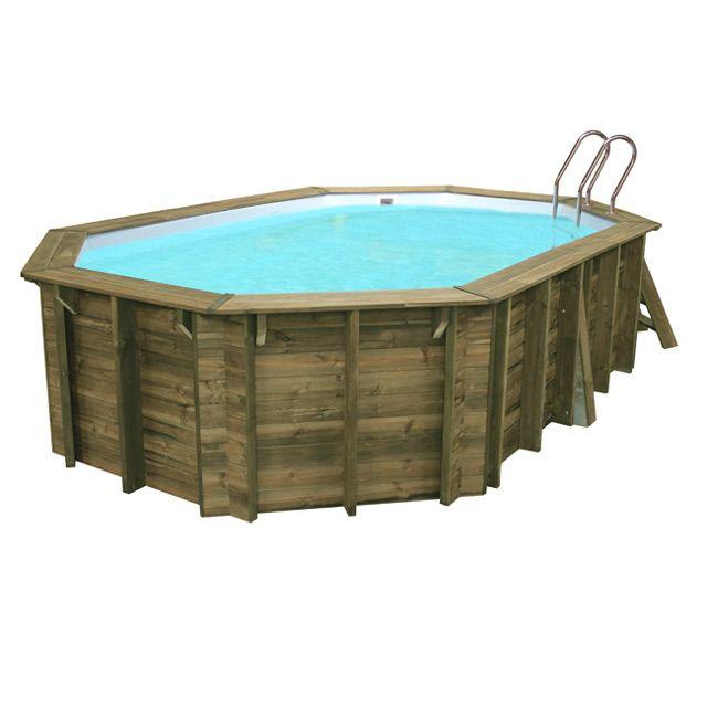 castorama - piscine en bois lokka 5,51 x 3,51 m piscine castorama