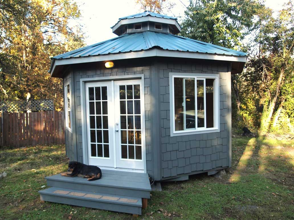 from octobie com an eight sided yurt like pre fabricated