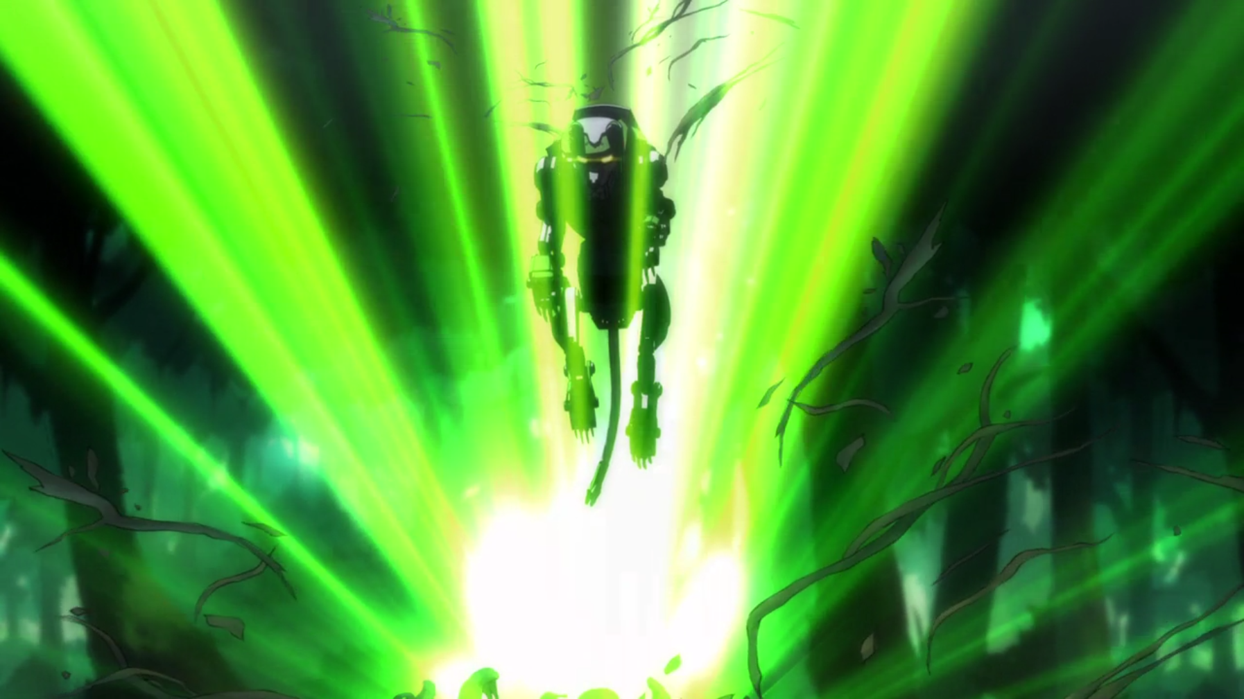 green lion emerges from its ancient cave like tree from voltron