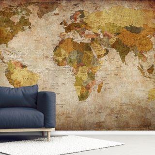 Old Style World Map #worldmapmural